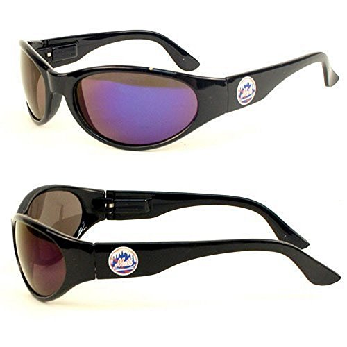 MLB Officially Licensed Team Color Full Frame Sun Revo Sunglasses (New York Mets)