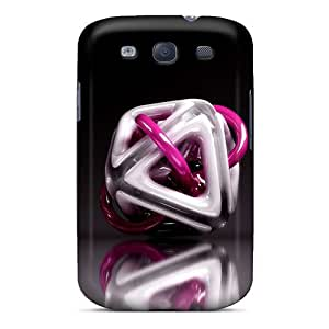 Hot Style Bpl2061TTQy Protective Cases Covers For Galaxys3(triangulos 3d)