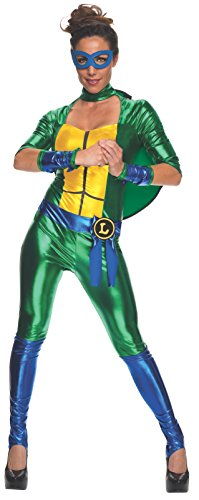[Secret Wishes Women's Teenage Mutant Ninja Turtles Leonardo Costume Jumpsuit, Multi, Small] (Sassy Ninja Turtle Costumes)