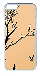 ACESR Bird On Branch iPhone 6 Hard Shell Case Polycarbonate Plastics Lastest Case for Apple iPhone 6(4.7 inch) White