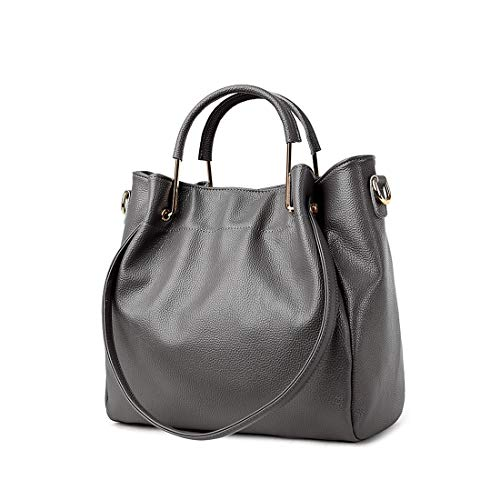 Artwell Fashion Satchel Bag Handbag Bag Women Large Hobo Capacity Leather Grey Totes Shoulder PU rArSqwx8F