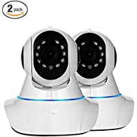 Security Camera, NexGadget Wireless IP Camera Surveillance System Video Monitor, Two-Way Audio, Night Vision, Motion Detection WiFi Camera [2-PACK]
