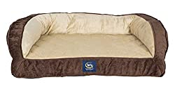 Serta Ortho Quilted Couch Pet Bed, Large, Mocha