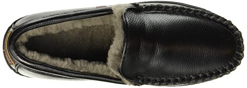 Warmbat Men's Grizzly Slippers Black (Black Grain 99) Oa6pODL2