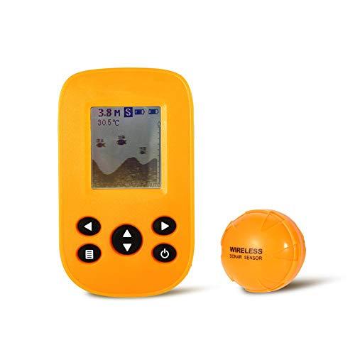 (YTBLF Portable Sonic Fish Finder, Wireless Fish Finder, UV-Resistant Liquid Crystal Display, Sonar Depth Detector, Kayaking, ice Fishing, sea Fishing, Fishing)