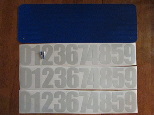 DIY Premium 911 Blue 3M Prismatic Reflective Address Sign Kit. W/ 3 Inch Numbers and Reflective Plate for Home or Business By Mg2 (Diy Address Number Kit)