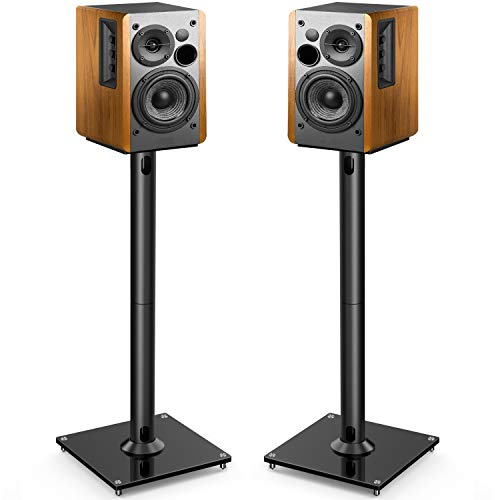 PERLESMITH Universal Floor Speaker Stands 26 Inch for Surround Sound
