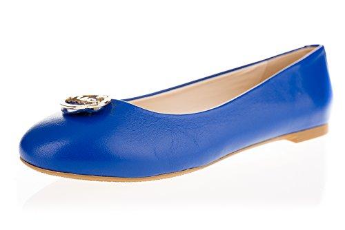 MEI Damen Ballerinas Blau osthwydfq