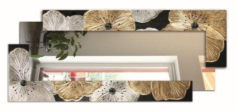 Spiegel rechteckig SCOMPOSTA Petunia Platin P4000PINTDECOR