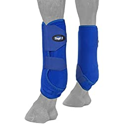Tough-1 Vented Sport Boots Front Large Blue/Royal