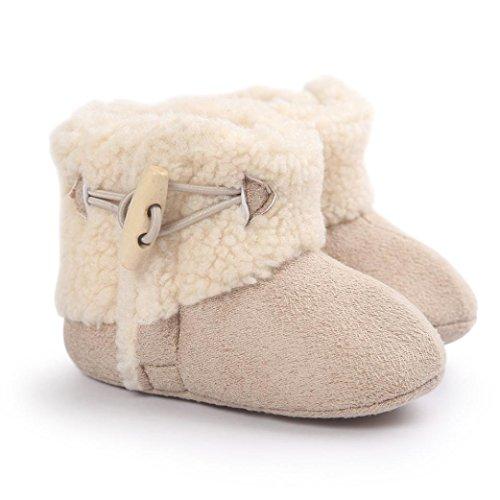 Tefamore Zapatos Bebe Botas de Elegante de Caliente para Primeros caminantes Caqui