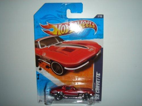 2011 Hot Wheels '63 CORVETTE (Red Exclusive) #87/244, Street Beasts '11 #7/10 - 63 Corvette Stingray