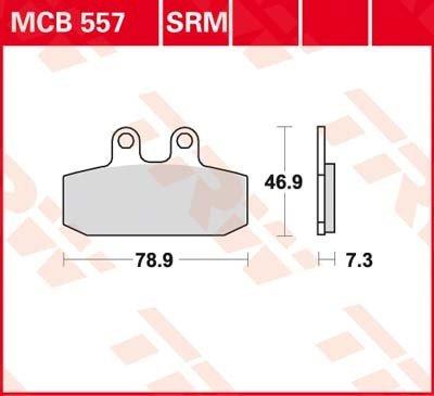 Lucas TRW Bremsbelä ge MCB 557 SRM vorne Gilera Coguar 125 M17 99-01