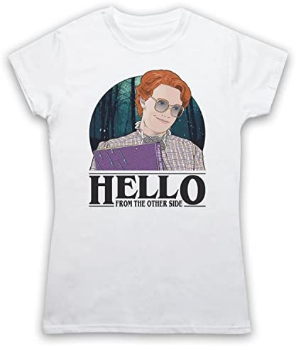 My Icon Art & Clothing Stranger Barb Hello from The Other Side Sci Fi Horror TV - Camiseta para Mujer: Amazon.es: Ropa y accesorios