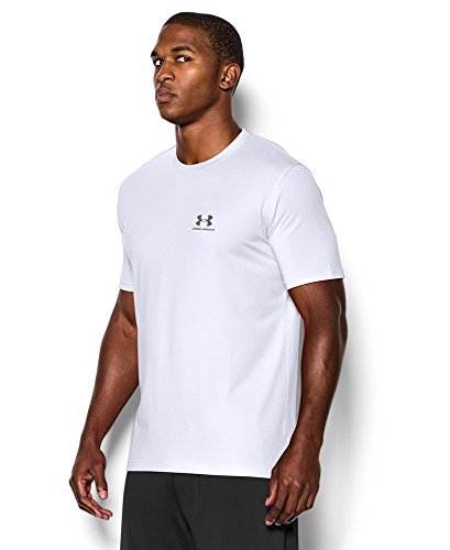 Under Armour Men's Charged Cotton Left Chest Lockup T-Shirt, White /Graphite, XXXX-Large by Under Armour (Image #2)