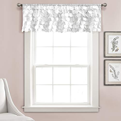 Lush Decor Gigi Valance Textured Window Kitchen Curtain (Single), 14