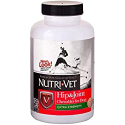 Nutri-Vet Hip & Joint Extra Strength Liver Chewables for Dogs,120 Count