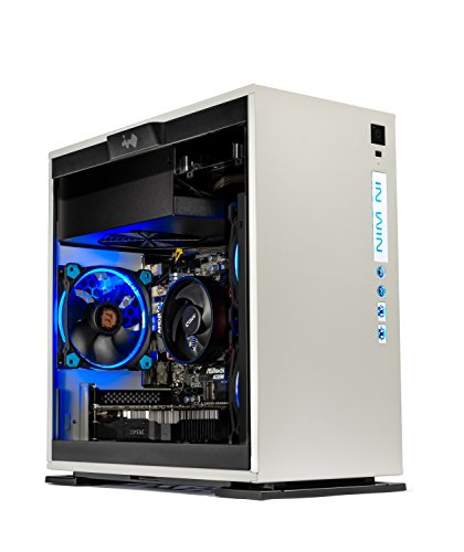 SkyTech Omega Mini Gaming Computer Desktop PC AMD Ryzen 5 1400 3.2 GHz, GTX 1050 Ti 4G, 500GB SSD with 3D NAND, 16GB DDR4 2400, A320 Motherboard, Win 10 Home (Ryzen 5 1400 | GTX 1050 TI | 500G SSD)