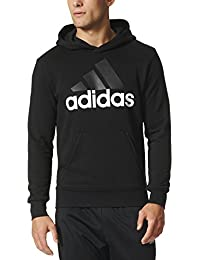 Mens Essential Linear Logo Pullover Hoodie