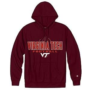 Virginia Tech Hokies Football Mens Performance Hoodie - L - Maroon