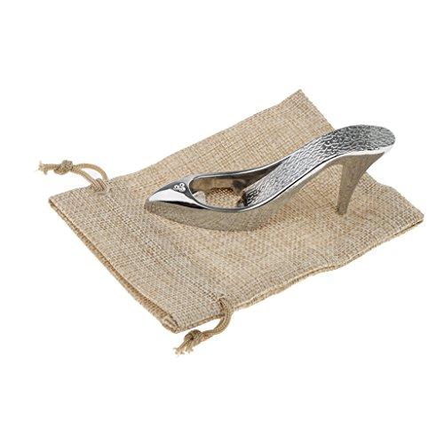 (Baoblaze Silver Metal High-heeled Shoes Style Beer Bottle Opener Wedding Birthday Party Favor)