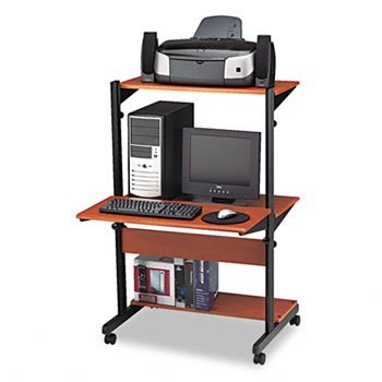 Tiffany Industries™ Soho™ Adjustable Mobile Computer Table WORKSTATION,COMPUTER,MCY CL71HBAMM65Y (Pack of2)