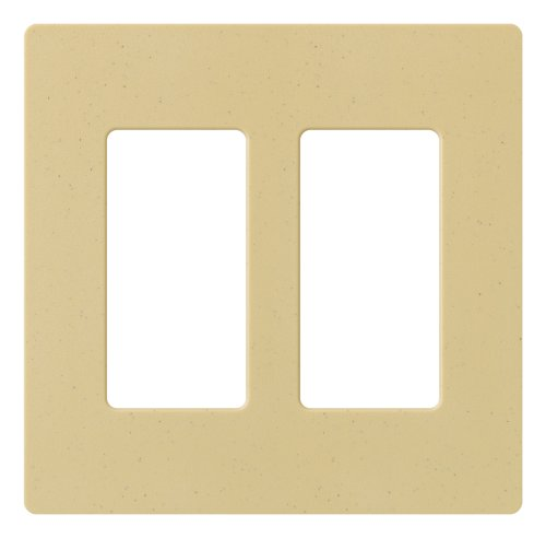 Lutron Claro 2 Gang Decorator Wallplate, SC-2-GS, Goldstone