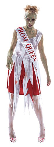 Bristol Novelty AC241 Horror Prom Queen Costume, Red, UK Size 10-14 -
