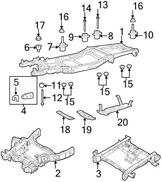 Genuine Ford 4L3Z-19702-AA Condenser Mount Bracket