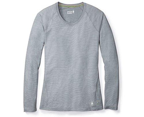 SmartWool Women's Merino 150 Baselayer Pattern Long Sleeve Dark Pebble Gray Medium (Smartwool Base Layer)