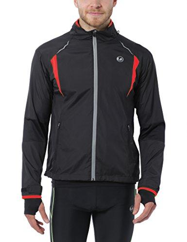 Ultrasport Herren Running-/Bikingjacke Stretch Delight, Schwarz/Rot, XXL, 40024