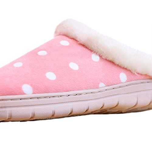 Womens bestfur Pink Soft Warm Sole Cozy House Fuzzy Slippers RwWpPBwfq1