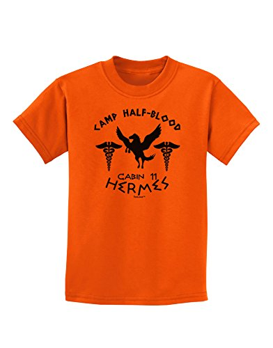 tooloud-camp-half-blood-cabin-11-hermes-childrens-t-shirt-orange-medium