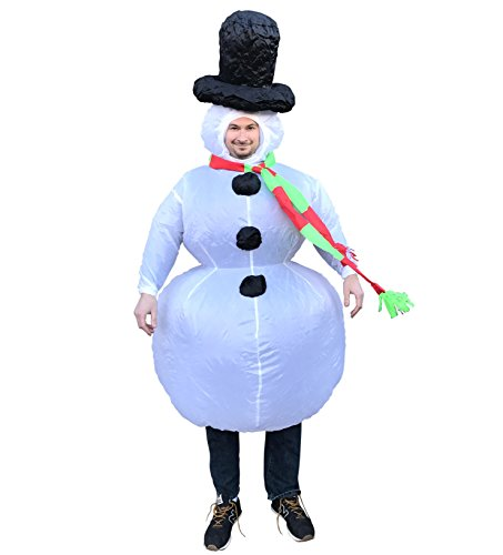 Chub Inflatable Blow up Full Body Suit Jumpsuit Costume (Snowman) (Mascot Snowman Costume)