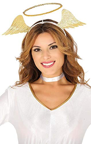 Ladies Girls Gold Angel Halo Wings Headband Christmas Xmas Nativity Fancy Dress Costume Outfit Accessory
