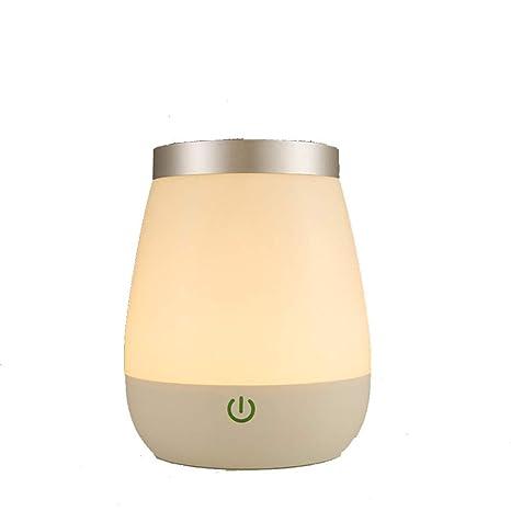JIJI886 Jarrón de Flores, lámpara de Mesa LED de luz ...