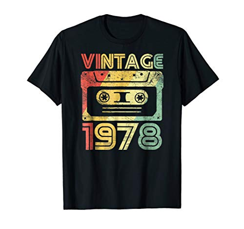 Vintage 1978 Birthday Cassette 70s Party Wear Gift