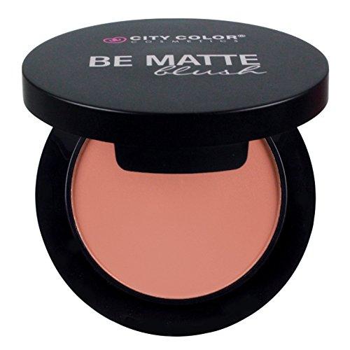 Blush Finish (CITY COLOR COSMETICS Be Matte Blush | Blendable Mineral Makeup Powder (Papaya))