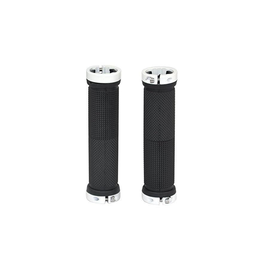 2 Pair of Bicycle Handlebar Grips,OUTERDO MTB BMX Road Mountain Bike Handle Double Lock on Locking Aluminum Grips