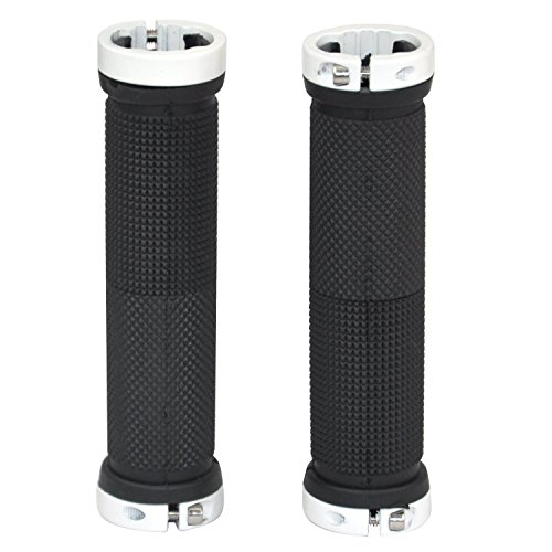 2 Pair of Bicycle Handlebar Grips,OUTERDO MTB BMX Road Mountain Bike Handle Double Lock on Locking Aluminum Grips