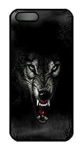 Case For Sam Sung Galaxy S4 I9500 Cover Angry Wolf PC Custom Case For Sam Sung Galaxy S4 I9500 Cover Cover Black