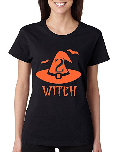 [Allntrends Women's T Shirt Witch 1 2 Cool Funny Halloween Costume Tee (2XL, Witch 2)] (Madeline Halloween Costume Ideas)