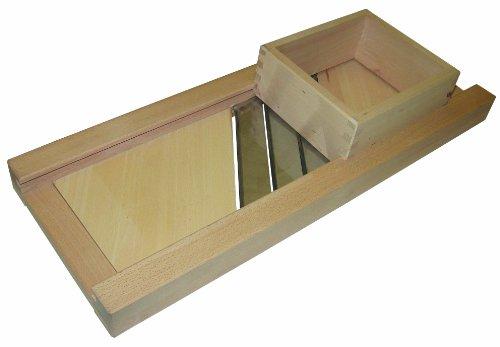 Hofmeister Holzwaren Profi-Krauthobel, eckig, 3 Edelstahl-Messer und Schublade; Länge: 800 mm, aus Buchenholz