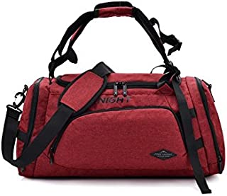 KinTTnyfgi Unisexe Polyester imperméable à Grande capacité Sac de Sport Sports Holdall Travel Weekender Duffel Bag (Rouge) pour Work Work Workout
