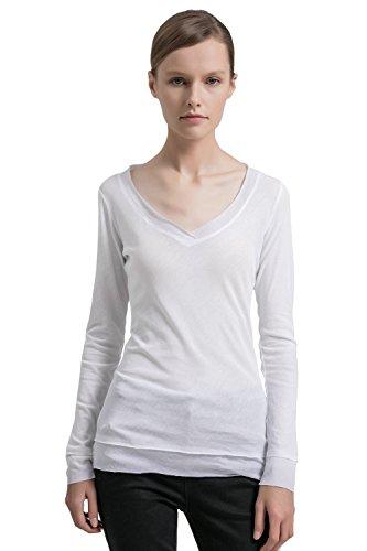 basic long sleeve v neck