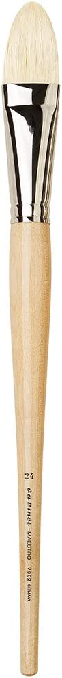Pointed Filbert da Vinci 7902-24 Maestro Artist Paint Brush Hand Interlocked with Natural Polished Handle Size 24