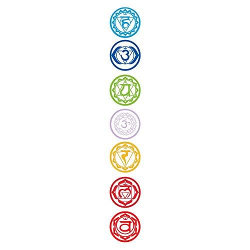 Cheap  AkoMatial Wall Stickers, 7Pcs/Set Om Meditation PVC Chakras Mandala Yoga Wall Stickers..