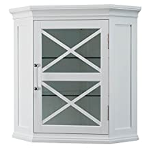 Blue Ridge Corner Wall Cabinet in White