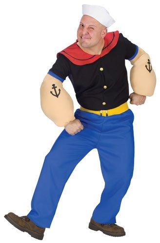 Fun World Costumes Men's Mens Popeye Costume, Blue, One Size ()