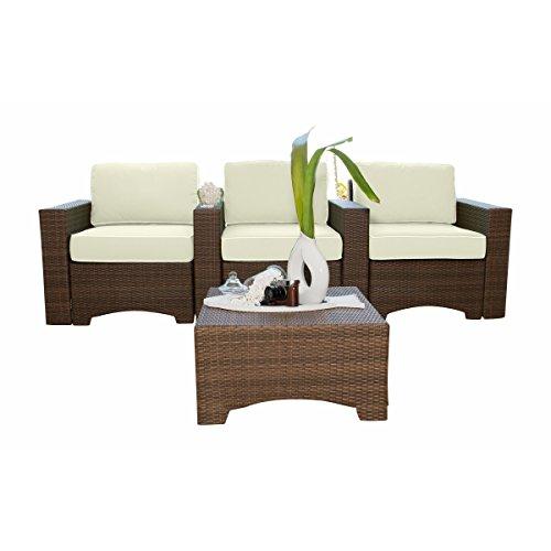 Panama Jack Key Biscayne 4-piece Theater Seating (Key Biscayne Sofa)